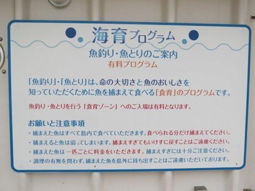 八景島シーパラダイス「うみファーム」魚釣り・魚とりの説明
