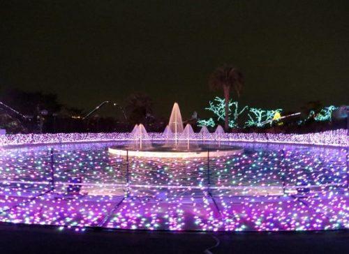 よみうりランドのイルミネーションイベント「ジュエルミネーション」アンパンマンプールもライトアップ