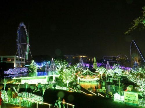よみうりランドのイルミネーションイベント「ジュエルミネーション」のきらめく夜景