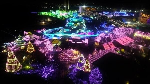 よみうりランドのイルミネーション ジュエルミネーション2020 観覧車からの眺め