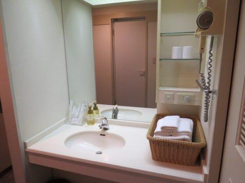 ホテルシーパラダイスイン客室洗面台