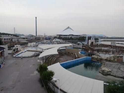 ホテルシーパラダイスインの客室からの眺め、八景島シーパラダイスが一望できる