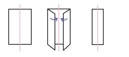 手作りパスケース・カードケースの作り方(ループ部分の図解)