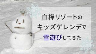 白樺リゾートのキッズゲレンデ「ポタスノーランド」で雪遊びした体験談