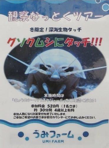 八景島シーパラダイス「うみファーム」の観察なっとくツアーポスター