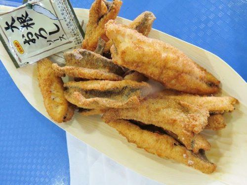 八景島シーパラダイス「うみファーム」で釣り上げたギンザケのから揚げ