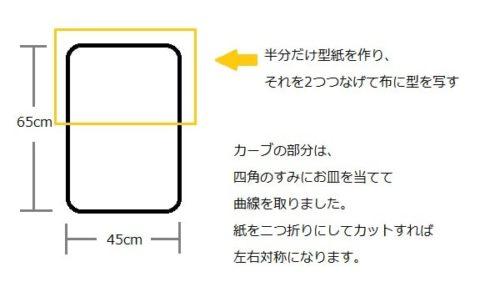 トッポンチーノの作り方(型紙の取り方、サイズ)