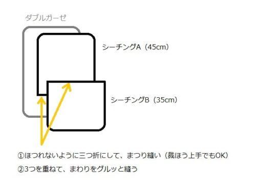 トッポンチーノの作り方(カバーの縫い方)