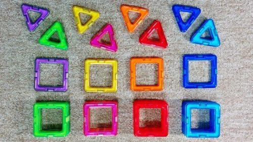 磁石知育玩具マグフォーマー30ピース正三角形と正方形