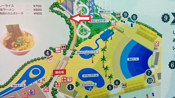 よみうりランドプール「アビスバスター」開催場所の位置